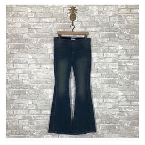 Free People pull on kick flare jeans imperial blue